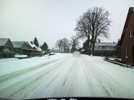 Schnee auf der B8