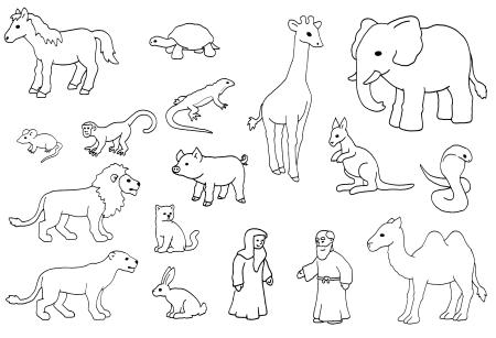 Noahs Tiere Vorlage