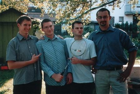 Vier coole Typen: Armin, Tobi, Till und Tobi